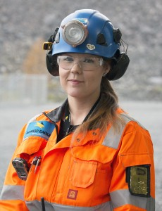 Kaivosmies Tiia Herukka, Agnico Eagle Finland Oy:n Kittilän kaivos